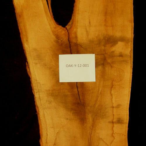 Oak live edge wood slab for sale for desks, tables, designer wall treatments, other. Item #OAK-Y-12-001