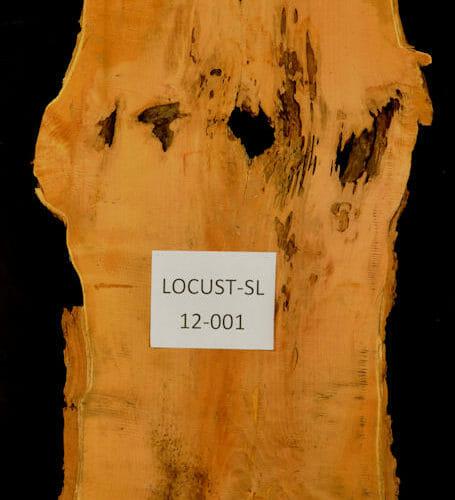 Locust live edge wood slab for sale for desks, tables, designer wall treatments, other. Item #Locut-SL-12-001