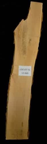 Locust live edge wood slab for sale for desks, tables, designer wall treatments, other. Item #Locust-SL-12-069
