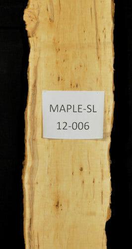 Live edge wood slab in Hard Maple for sale for desk, table, designer wall treatment, other. Item HRDM-SLR-12-0006