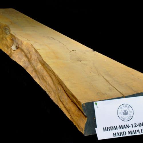 Live edge wood slab maple mantle for sale at Bark House #HRDM-MAN-12-0002