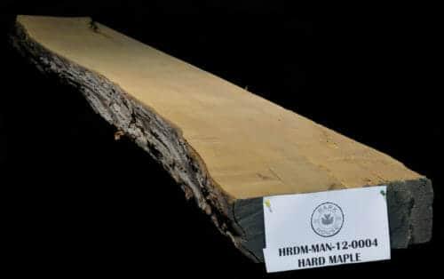 Live edge wood slab maple mantle for sale at Bark House #HRDM-MAN-12-00