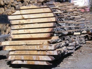 White Pine Sustainable Live Edge Slab Lumber
