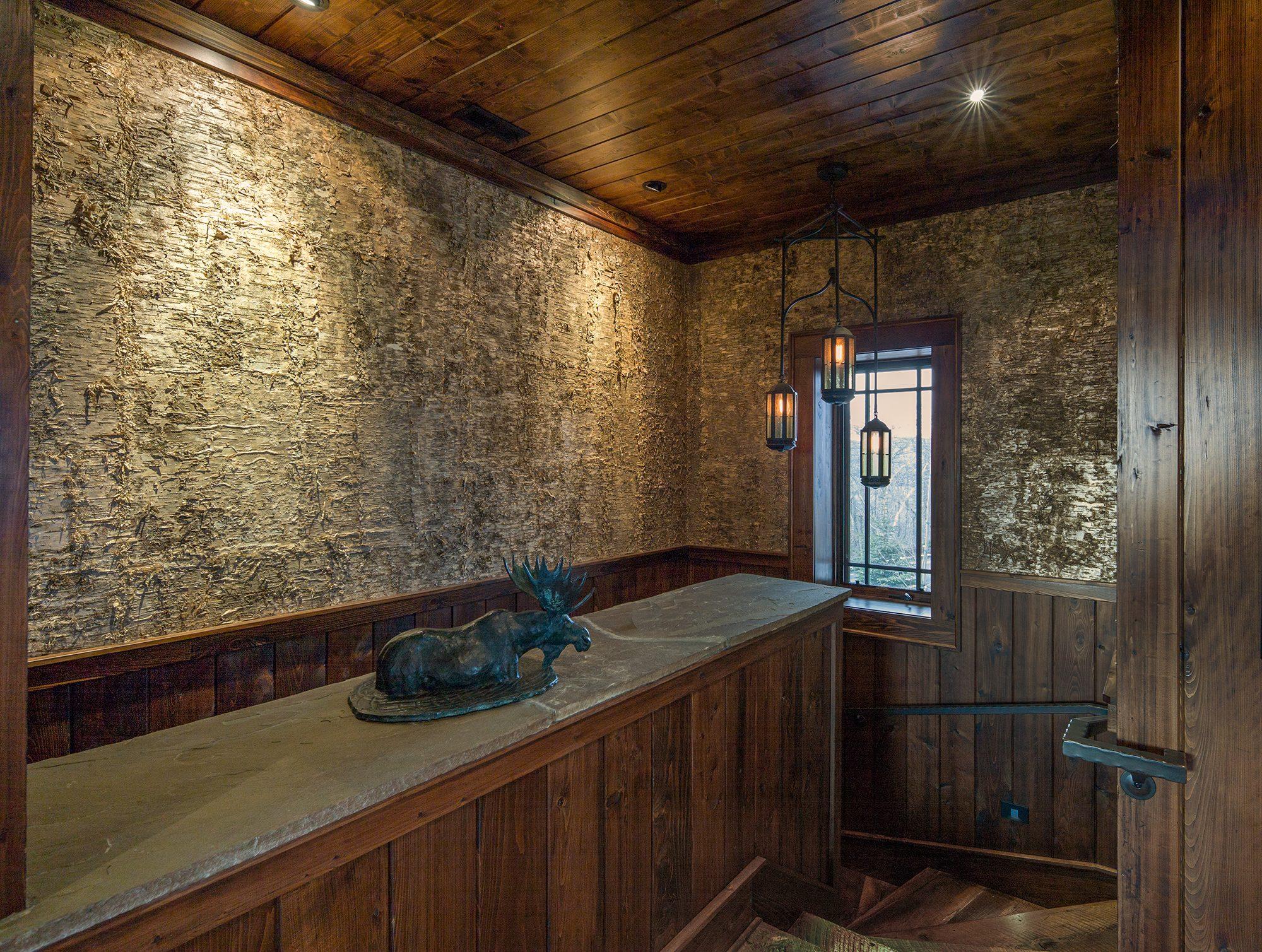 Gold Birch Bark Laminate Wall Covering