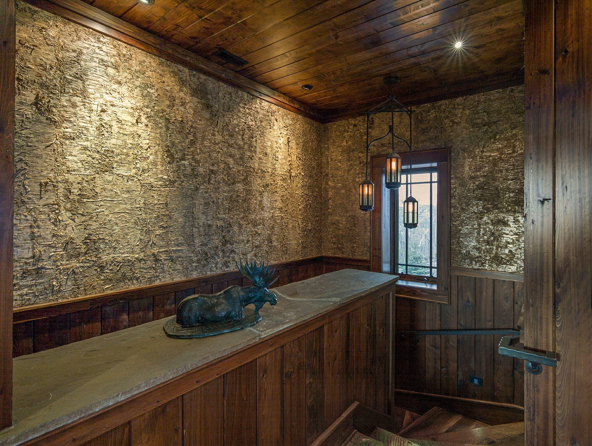 Gold Birch Bark Wall Coverings Gallery Bark House