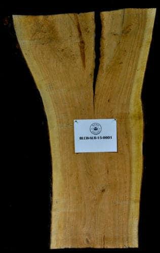 Cherry live edge wood slab for sale for desks, tables, designer wall treatments, other. Item #BLCH-SLR-15-0001