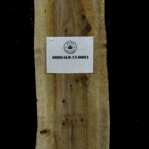 Arborvitae live edge wood slab for sale for desks, tables, designer wall treatments, other. Item #ARBO-SLR-15-0003