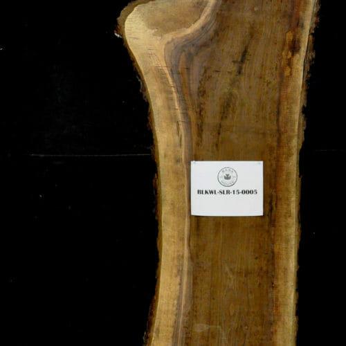Black Walnut live edge wood slab for sale for desks, tables, designer wall treatments, other. Item #BKWL-SLR-15-0005