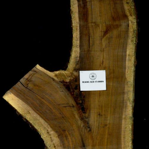 Black Walnut live edge wood slab for sale for desks, tables, designer wall treatments, other. Item #BKWL-SLR-15-0008