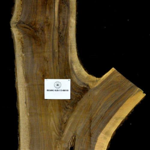 Black Walnut live edge wood slab for sale for desks, tables, designer wall treatments, other. Item #BKWL-SLR-15-0010