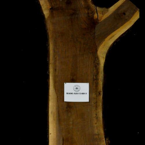 Black Walnut live edge wood slab for sale for desks, tables, designer wall treatments, other. Item #BKWL-SLR-15-0011