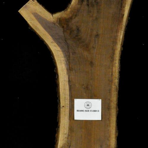 Black Walnut live edge wood slab for sale for desks, tables, designer wall treatments, other. Item #BKWL-SLR-15-0013