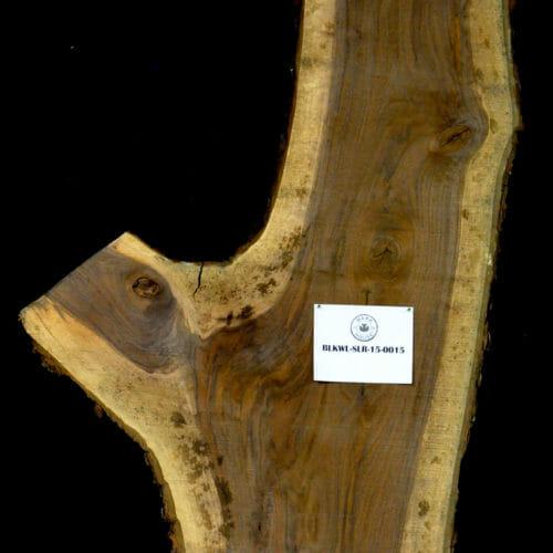 Black Walnut live edge wood slab for sale for desks, tables, designer wall treatments, other. Item #BKWL-SLR-15-0015