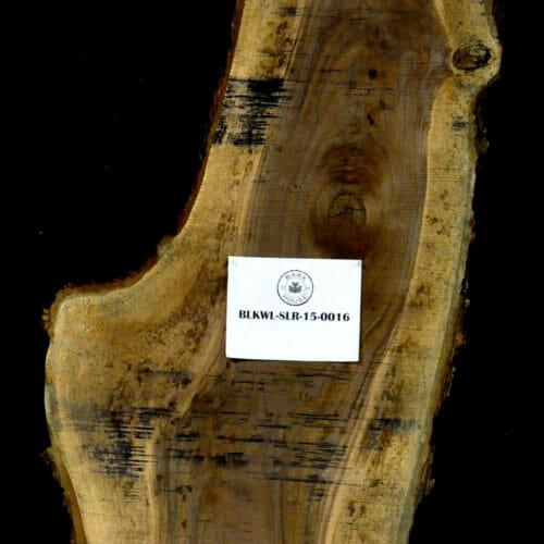Black Walnut live edge wood slab for sale for desks, tables, designer wall treatments, other. Item #BKWL-SLR-15-0016