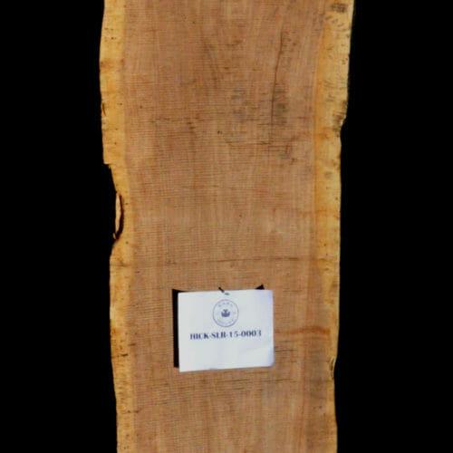 Hickory live edge wood slab for sale for desks, tables, designer wall treatments, other. Item #HICK-SLR-15-0003