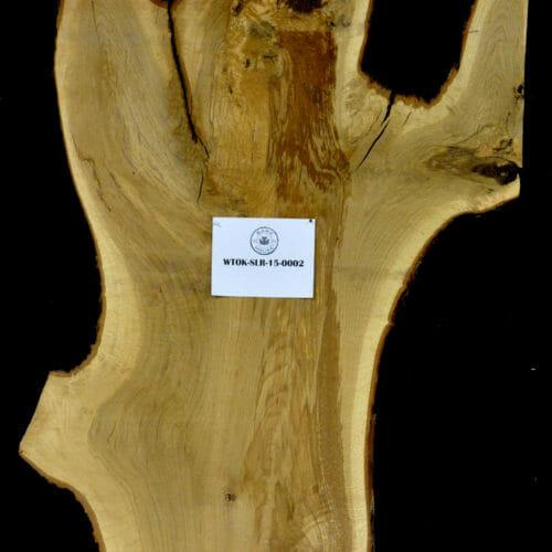 White Oak live edge wood slab for sale for desks, tables, designer wall treatments, other. Item #WTOK-SLR-15-0002