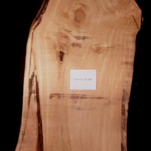 Live edge wood slab in White Pine for sale for desk, table, designer wall treatment, other. Item WTPL-SLR-14-0006
