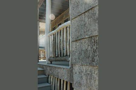 Natural Wood Panels and Peeled post locust port