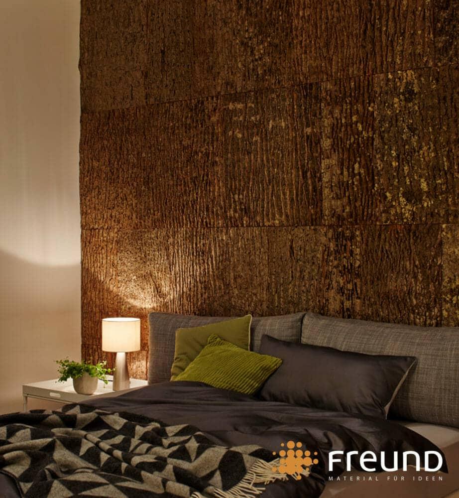 Poplar Bark Shingle wall covering in hotel in Germany