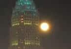 Charlotte NC skyscraper at night