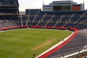 Empty Denver Broncos stadium