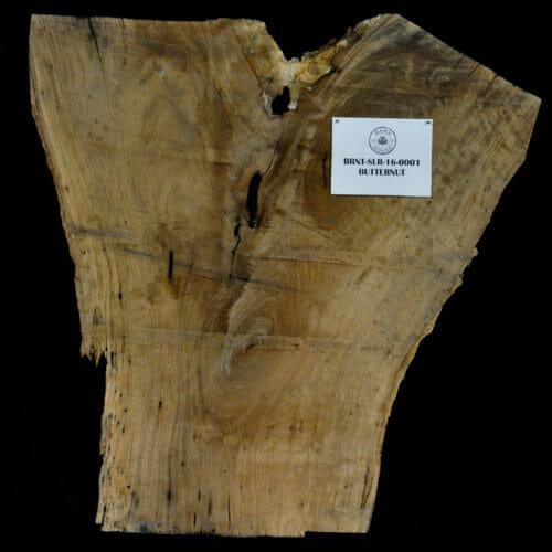 Butternut or White Walnut Live Edge Slab for sale at the Bark House #BRNT-SLR-16-0001