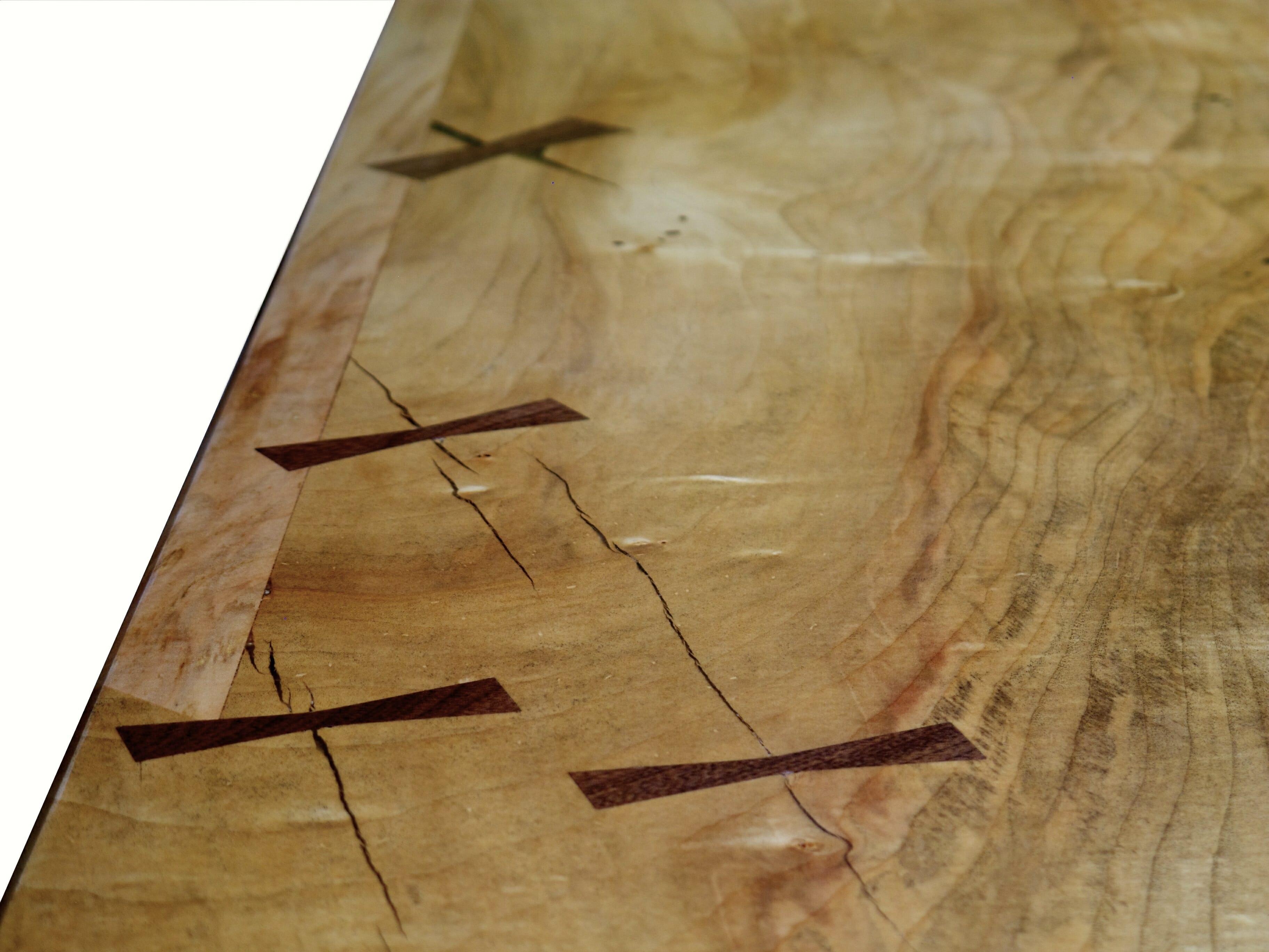 Love of live edges bark house for Live edge wood slabs new york