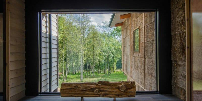 Bark House Tulip Poplar exterior bark shingle siding