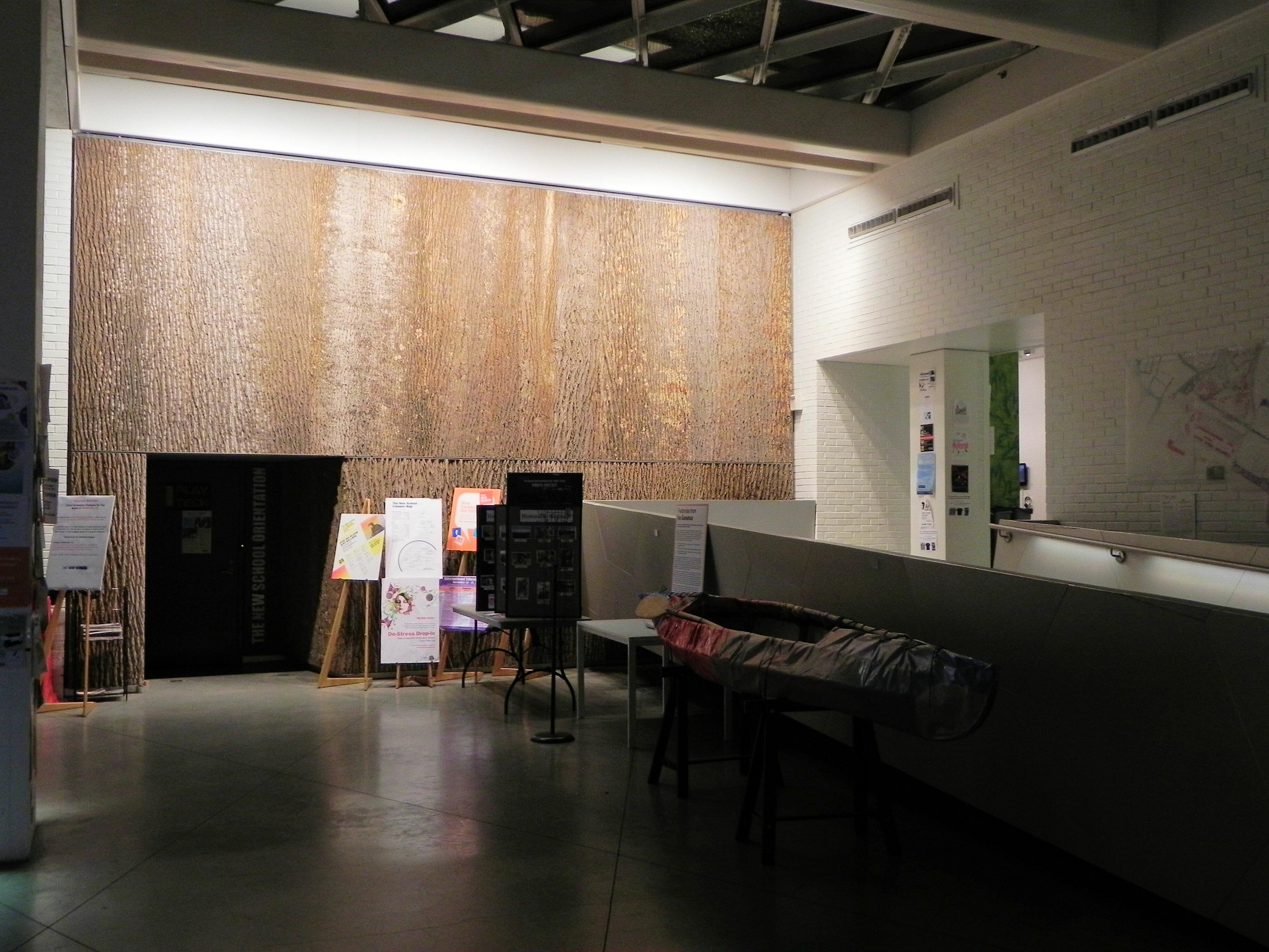 Poplar Bark Wallcovering Panels In Parsonsu0027 School Of Design ...
