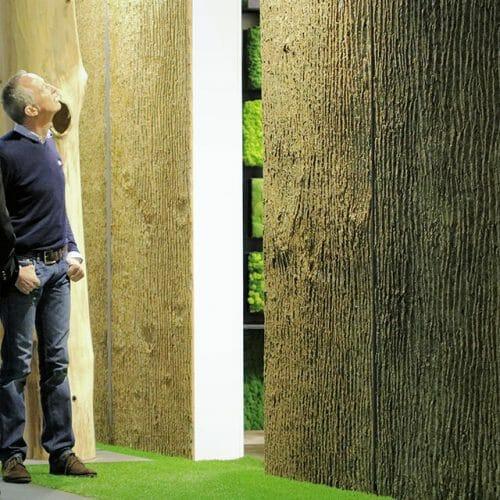 Bark House Poplar Bark Wall Panels in Germany Freund