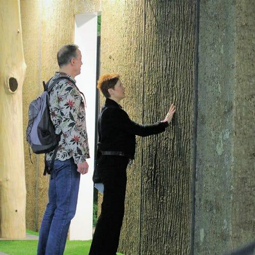 Bark House Poplar Bark Wall Panels in Germany Freund 2016
