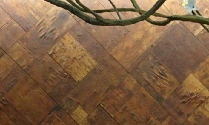 Tree Bark Veneer : Cherry leather wall covering wood laminate panels
