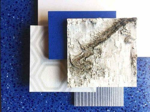 CaraGreen creates a lovely vignette with Bark House White Birch Bark Wall Treatmen