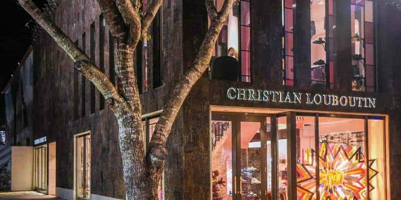 Exterior poplar bark siding on Christian Louboutin flagship in Miami
