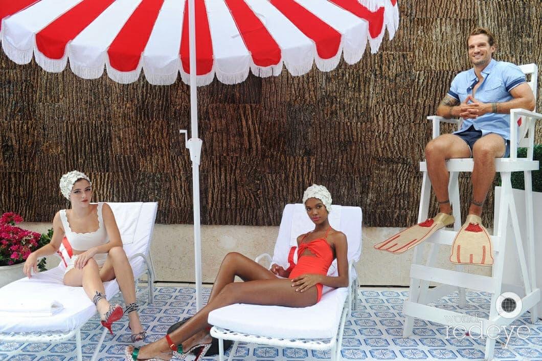 Poplar Bark shingles are a backdrop for Louboutin models in Miami