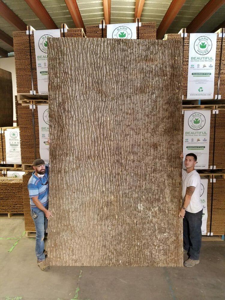 Highland Craftsmen: huge poplar bark panel wall covering