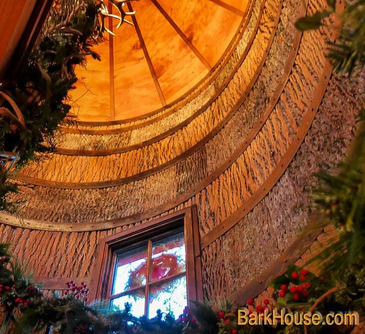 Bass Pro Nature Treehouse Nelson Treehouse with Interior Poplar Bark shingles