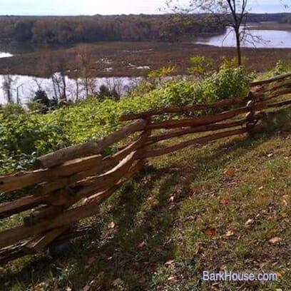Bark House Black Locust Split Rail Fence