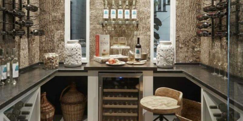 Southern Living Home Bark House Interior Shingles Wine Room 09-08-17