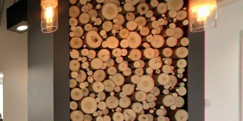 Bark House at Highland Craftsmen Inc: Poplar Pole End Cut Panels in Kangaroo Smiles