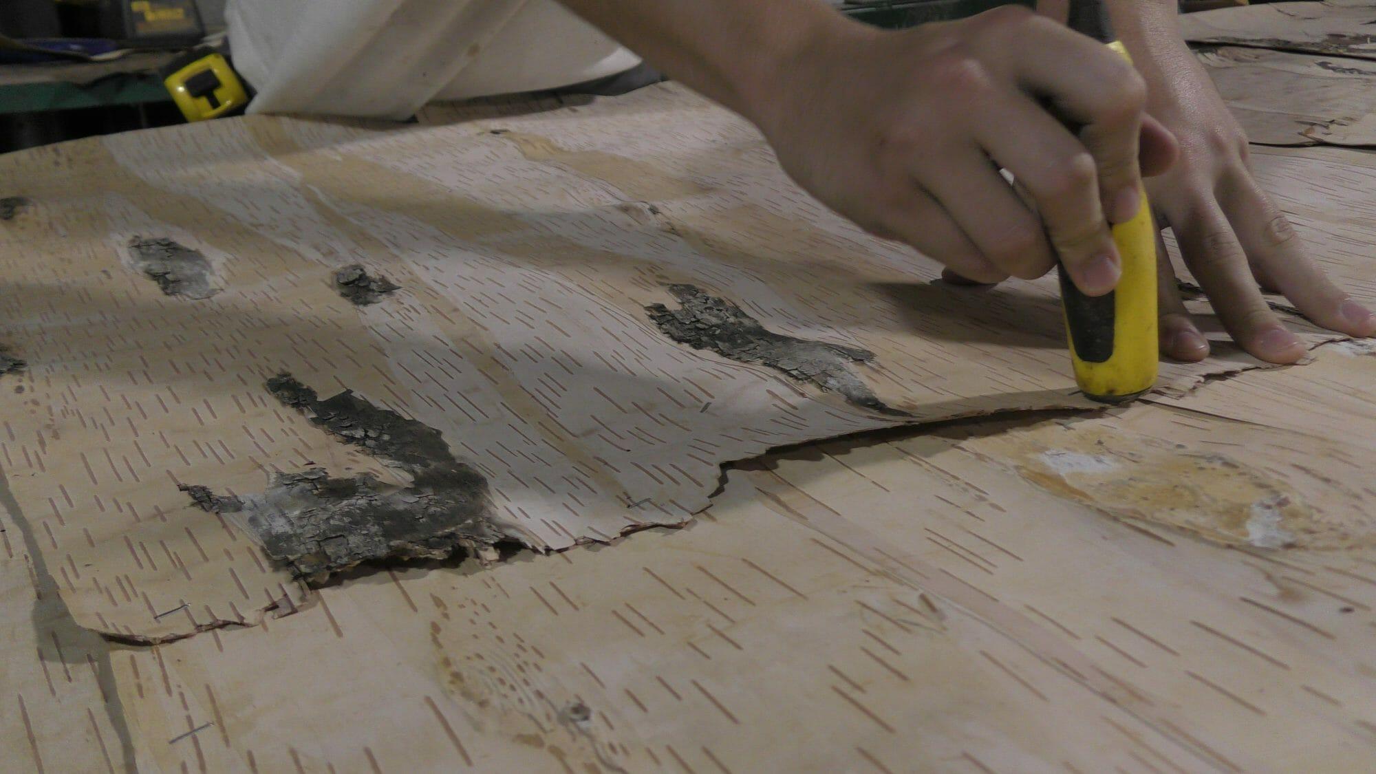 Birch Leather Veneer Sheets Birch Wood Veneer Wall Covering