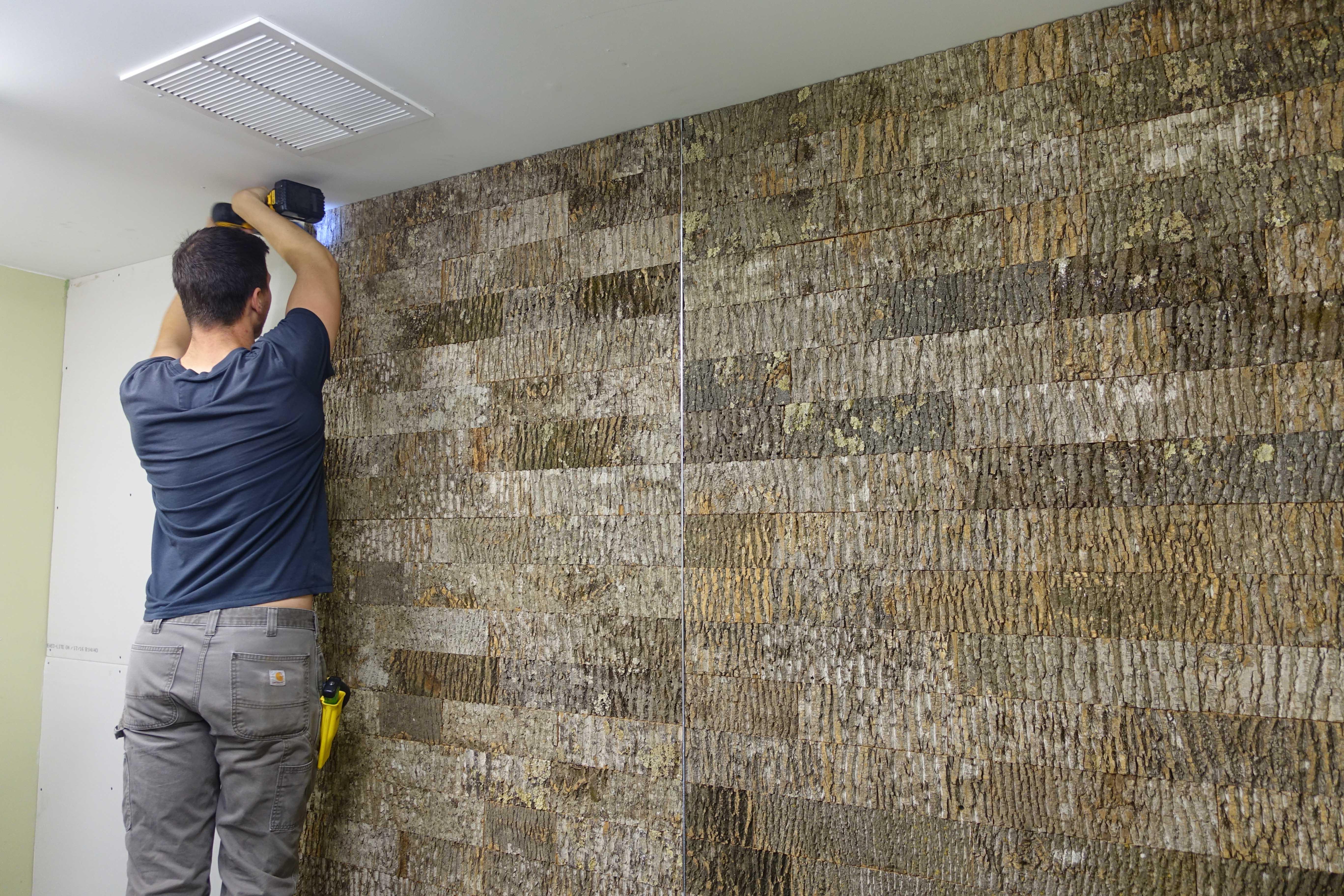 Bark House Poplar Subway Tile Wall Panels Casey Installs Martys wall ...