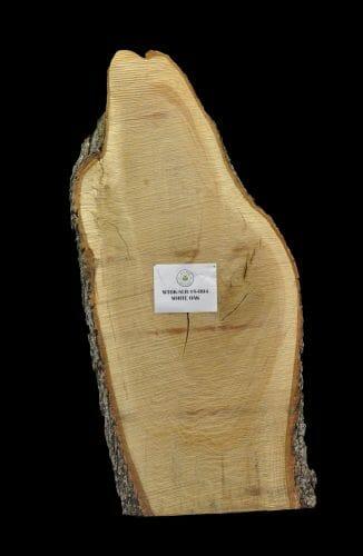 For sale at the Bark House: white oak live edge slab 18-0004