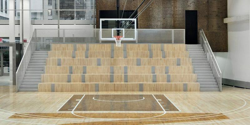 NIKE Basketball Court with Bark House brand poplar bark wall panels