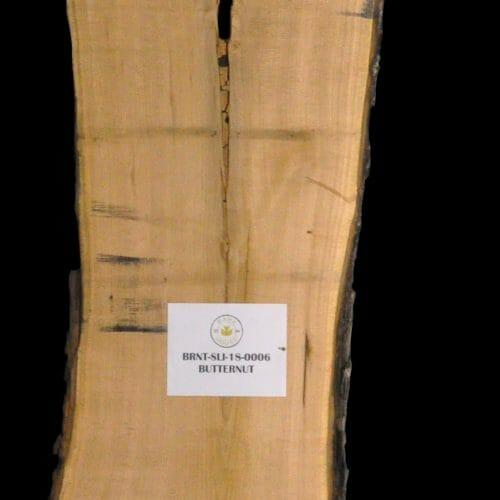 Butternut Live Edge Wood Slab for sale at Bark House BRNT-SLI-18-0006