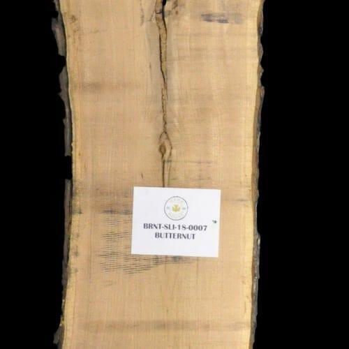 Butternut Live Edge Wood Slab for sale at Bark House BRNT-SLI-18-0007