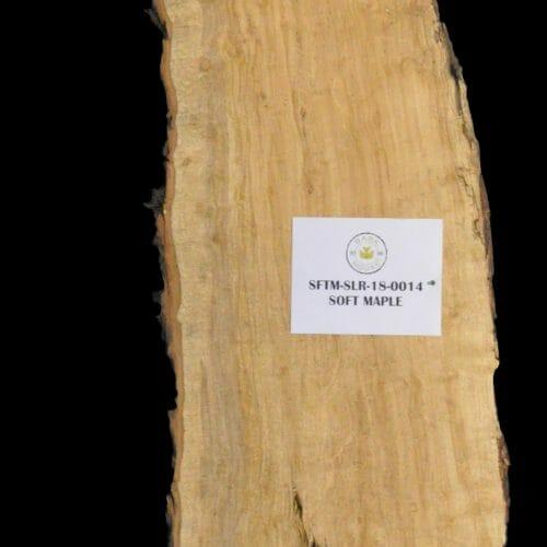 Soft Maple Live Edge Wood Slab for sale at Bark House SFTM-SLR-18-0014