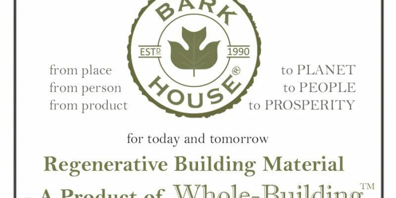 Regenerative Building Materials: Bark House Products... natural bark wall covering, panels, sheets
