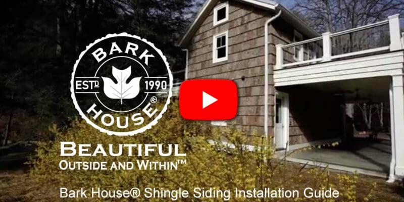 Bark House Poplar Shingle Installation Guide Video