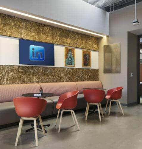 Bark House Poplar Shingles in LinkedIn Lounge